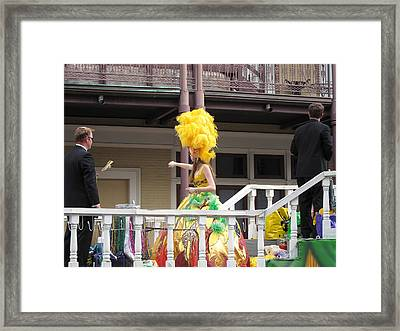 New Orleans - Mardi Gras Parades - 1212122 Framed Print by DC Photographer