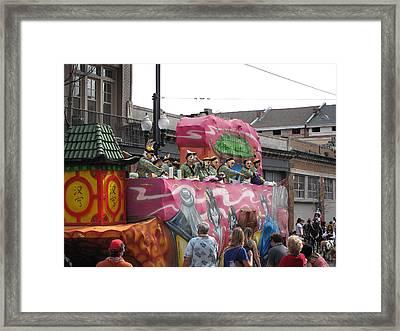 New Orleans - Mardi Gras Parades - 1212132 Framed Print