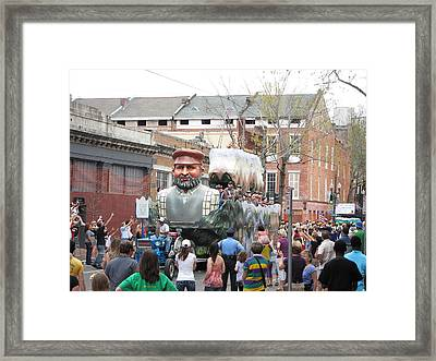 New Orleans - Mardi Gras Parades - 121285 Framed Print