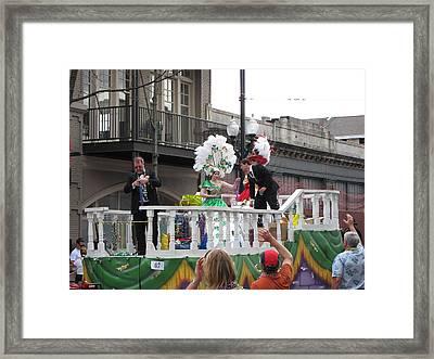 New Orleans - Mardi Gras Parades - 121297 Framed Print