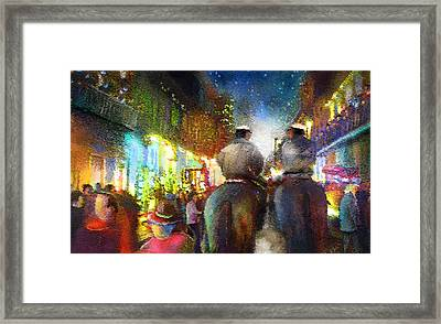 New Orleans Nights 01 Framed Print by Miki De Goodaboom