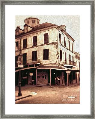 New Orleans - Old Absinthe Bar Framed Print by Gregory Dyer