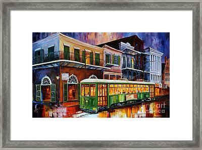 New Orleans Old Desire Streetcar Framed Print