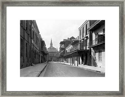 New Orleans Old French Quarter Framed Print by Underwood Archives