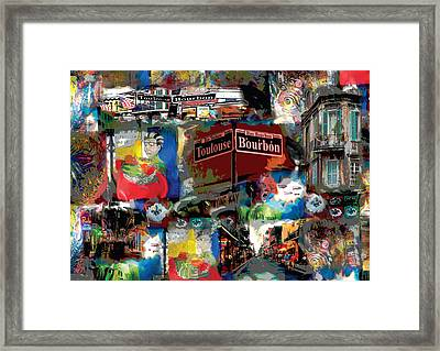 New Orleans Party Framed Print
