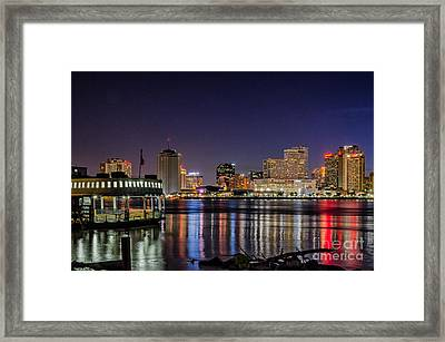 New Orleans Reflects On A Summer Night Framed Print by Kathleen K Parker
