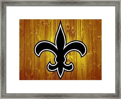 New Orleans Saints Barn Door Framed Print