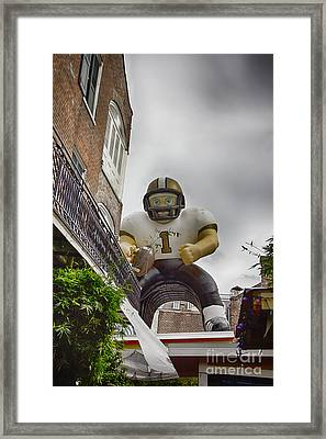 New Orleans Saints-nfl Inflatable Player Framed Print by Douglas Barnard