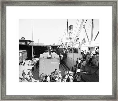 New Orleans Shipping, 1905 Framed Print by Granger