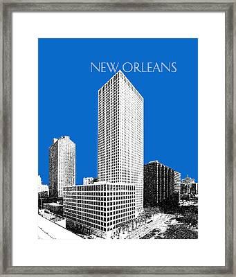 New Orleans Skyline - Blue Framed Print by DB Artist