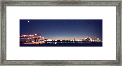 New Orleans Skyscape Framed Print by Ray Devlin