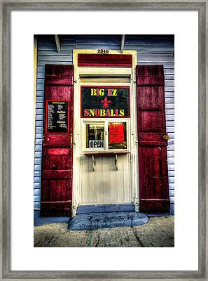 New Orleans Snow Ball Stand Framed Print by Louis Maistros