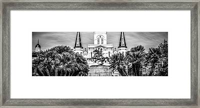 New Orleans St. Louis Cathedral Panorama Photo Framed Print