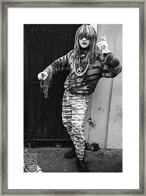 New Orleans Statuary Mime Framed Print by Michael Whitaker