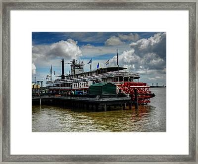 New Orleans - Steamboat Natchez 001 Framed Print by Lance Vaughn