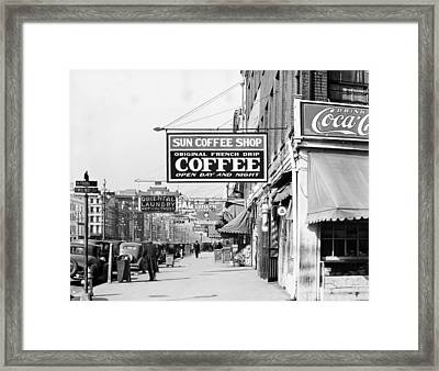 New Orleans Street, 1935 Framed Print by Granger