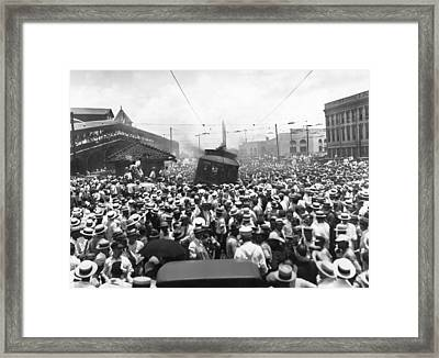 New Orleans Street Car Strike Framed Print by Underwood Archives