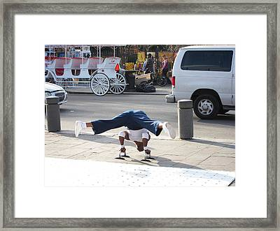 New Orleans - Street Performers - 121210 Framed Print by DC Photographer