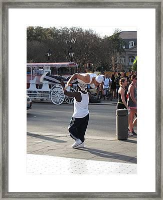 New Orleans - Street Performers - 121217 Framed Print