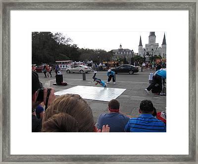 New Orleans - Street Performers - 121221 Framed Print