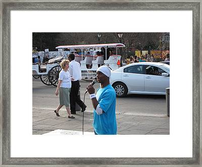 New Orleans - Street Performers - 12126 Framed Print by DC Photographer