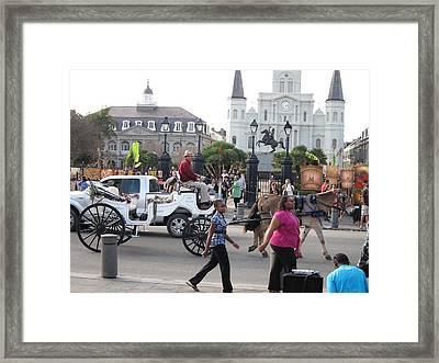 New Orleans - Street Performers - 12127 Framed Print
