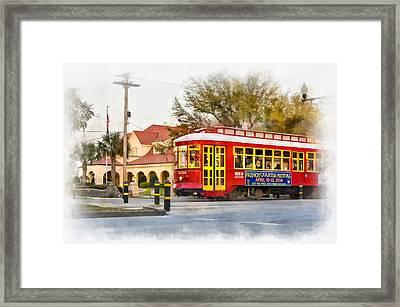 New Orleans Streetcar Paint Framed Print by Steve Harrington