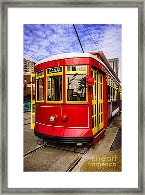 New Orleans Streetcar  Framed Print by Paul Velgos