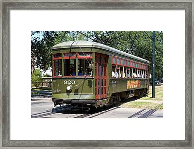 New Orleans Streetcar Framed Print by Photostock-israel