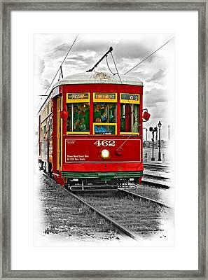 New Orleans Streetcar Vignette Framed Print by Steve Harrington