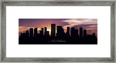 New Orleans Sunset Framed Print by Aged Pixel