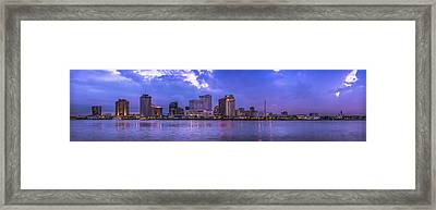 New Orleans Sunset Framed Print by David Morefield