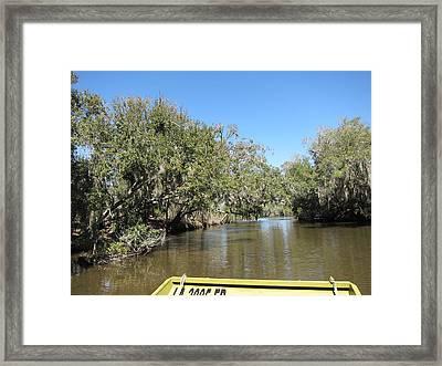 New Orleans - Swamp Boat Ride - 1212151 Framed Print