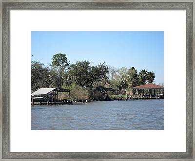 New Orleans - Swamp Boat Ride - 121226 Framed Print by DC Photographer
