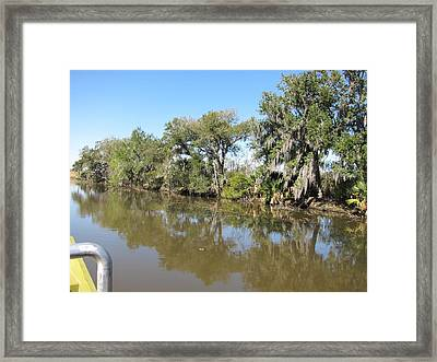 New Orleans - Swamp Boat Ride - 121232 Framed Print by DC Photographer