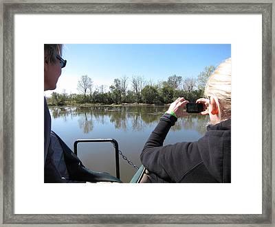 New Orleans - Swamp Boat Ride - 121290 Framed Print