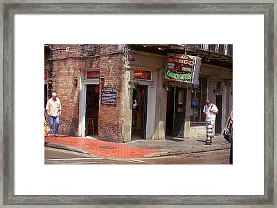 New Orleans Tavern Framed Print by Frank Romeo