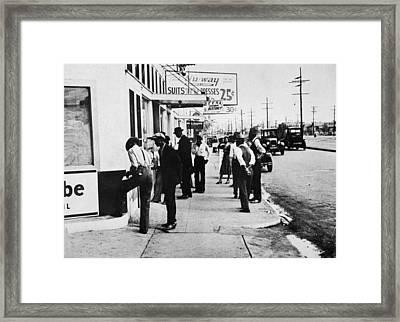 New Orleans Unemployed, 1935 Framed Print by Granger
