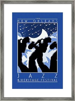 New Orleans Vintage Jazz And Heritage Festival 1980 Framed Print