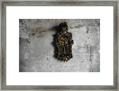 New Orleans Voodoo Bone Clock Framed Print