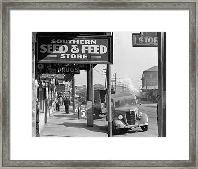 New Orleans Waterfront, 1935 Framed Print by Granger