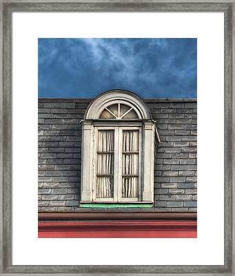 New Orleans Window Framed Print by Brenda Bryant
