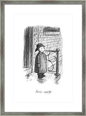 New Out?t Framed Print by William Steig