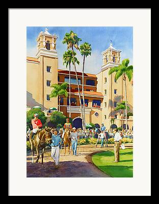 Jockey Paintings Framed Prints