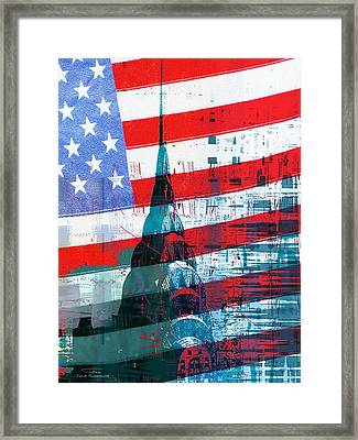 New Paint - New York Chrysler Building I Framed Print by Joost Hogervorst