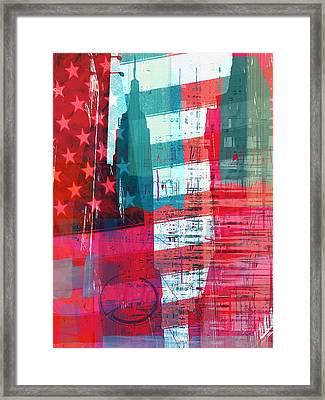 New Paint - New York Empire State I Framed Print