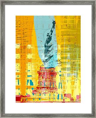 New Paint - New York Liberty Statue I Framed Print