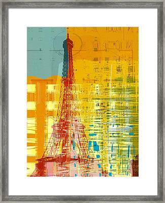 New Paint - Paris Eifel I Framed Print by Joost Hogervorst
