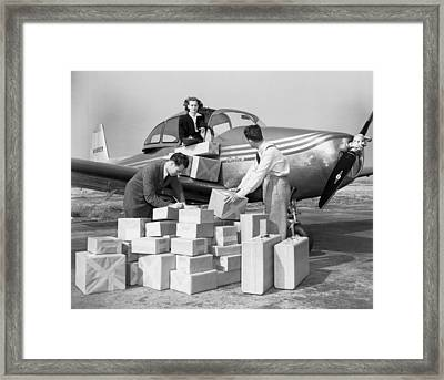 New Personal Aircraft Framed Print by Underwood Archives