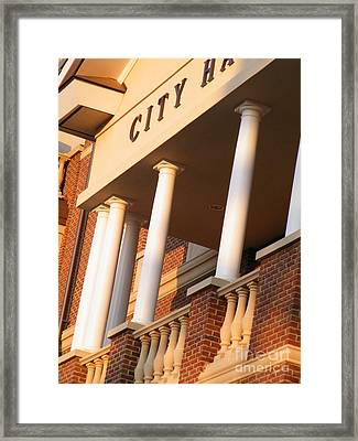 New Perspective On City Hall Framed Print by Cheryl Hardt Art